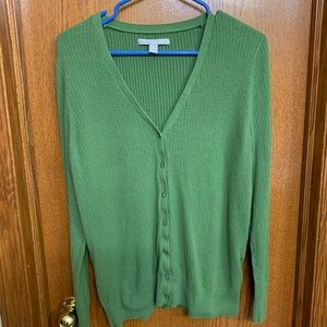 Old Navy Green Ribbed V-Neck Cardigan Size XL
